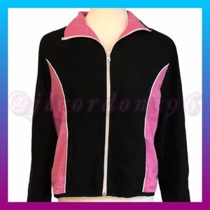 Three Hearts Black and Pink Zippered Jacket LP